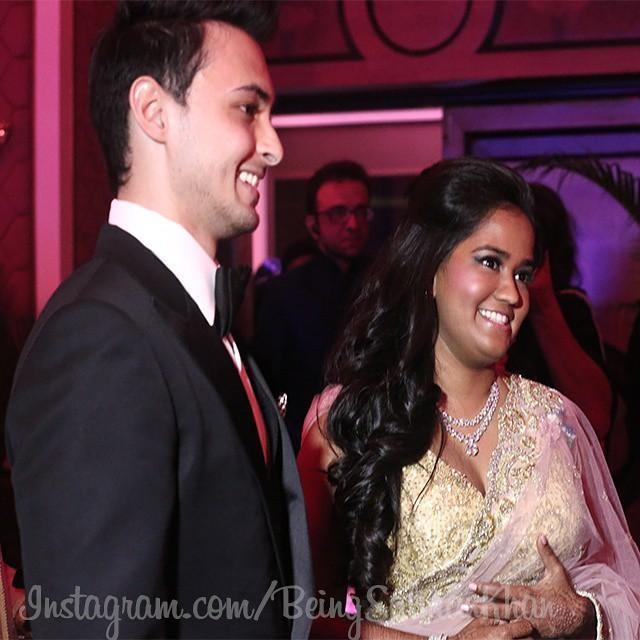 Aayush Sharma & Arpita Khan at Their Wedding Reception