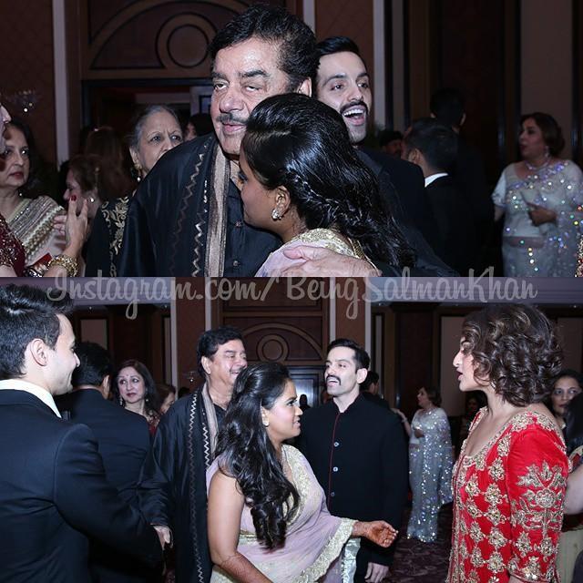 Shatrughan Sinha at Arpita Khan's Wedding Reception