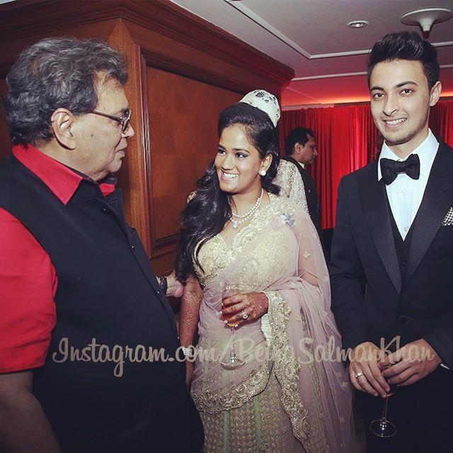 Subhash Ghai at Arpita Khan's Wedding Reception