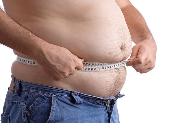 Man with huge belly
