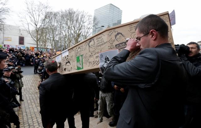 Charlie Hebdo Paris Attack Funeral