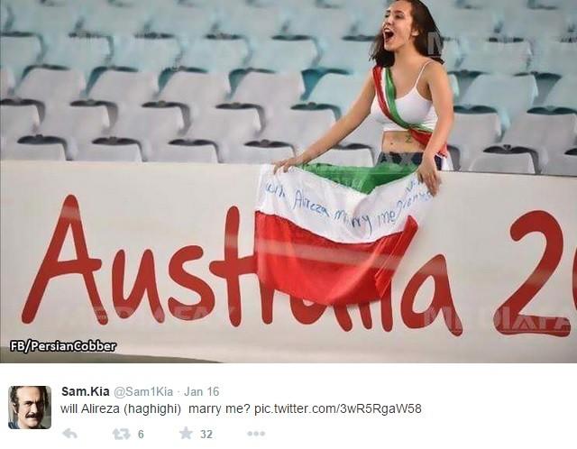 An Iranian football fan