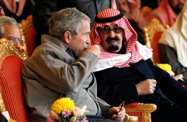 Saudi King with George W. Bush