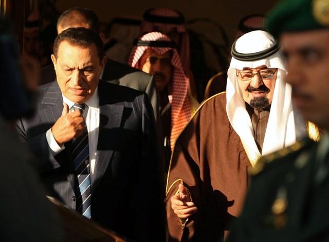 Saudi King with Egyptian President Hosni Mubarak