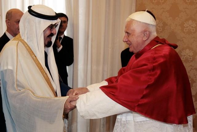 Saudi King with Pope Benedict XVI