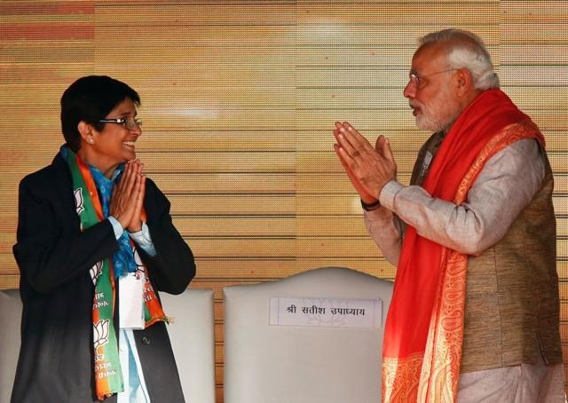 Narendra Modi and Kiran Bedi
