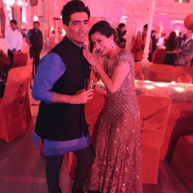 Sophie Choudry and Manish Malhotra