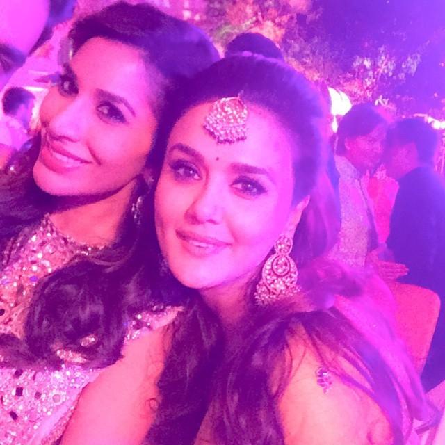 Sophie Choudry with Preity Zinta