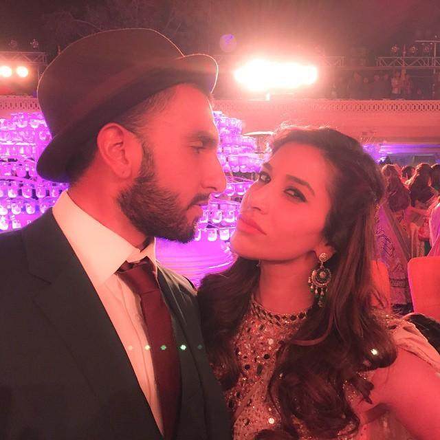 Sophie Choudry with Ranveer Singh