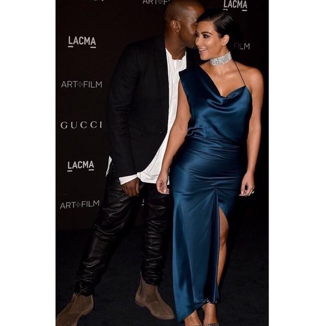 Kim Kardashian with Kenye West