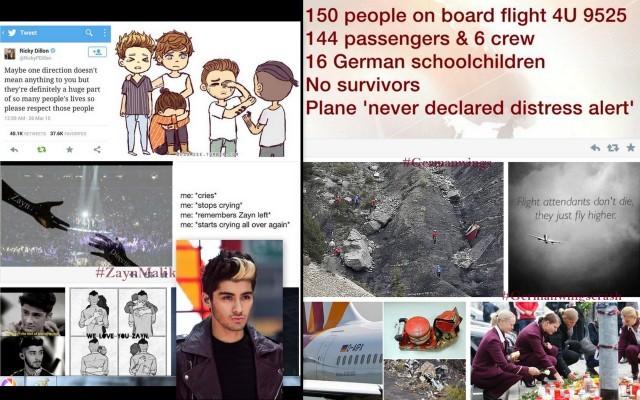 Hashtag Zayn Malik trending over Germanwings crash has irked many on Twitter