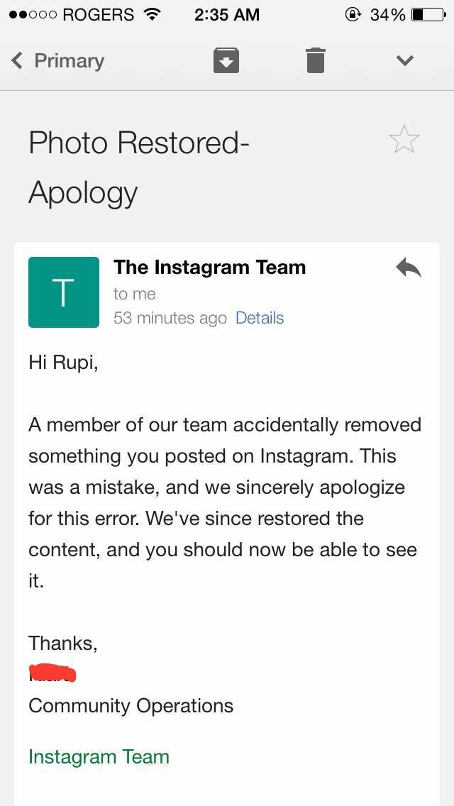 Instagram Apologizes for Censoring Menstruation