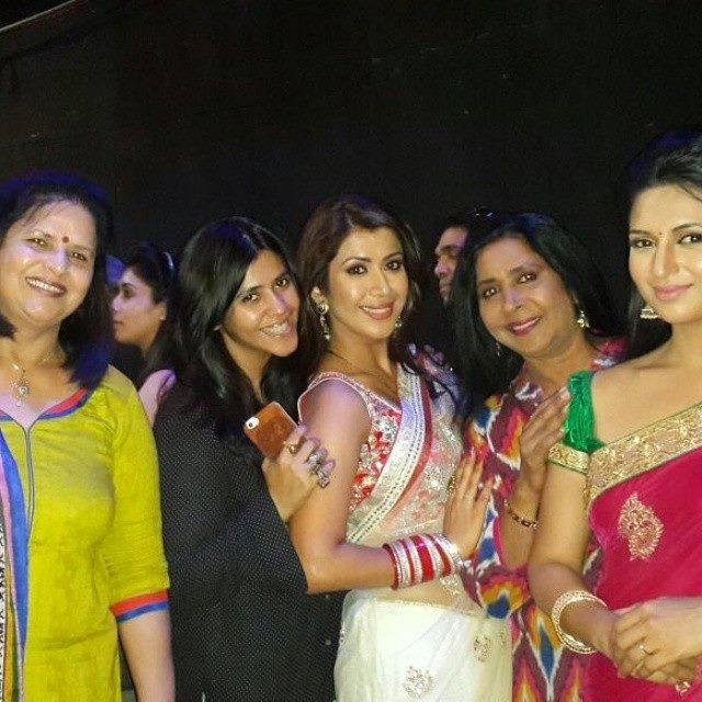 Ekta Kapoor, Ankita Bhargava and Divyanka Tripathi