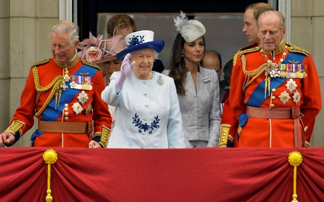 The Royals attending the Trooping The Colour in 2014