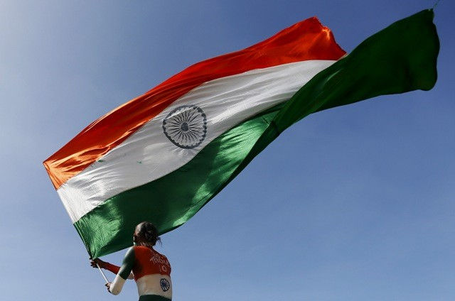 Bollywood celebs wish Happy Independence Day. Pictured: A person with the Indian flag in his hand.