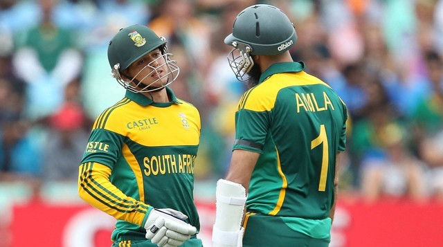 South African openers de Kock and Amla