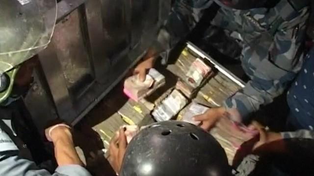 Nepal: Police find over 25m rupees under destroyed bank
