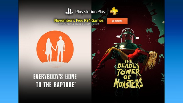 Sony free PlayStation Plus Games for November 2016 now official