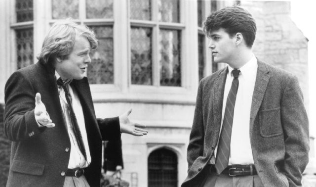 Still of Philip Seymour Hoffman and Chris O'Donnell in Scent of a Woman/IMDB