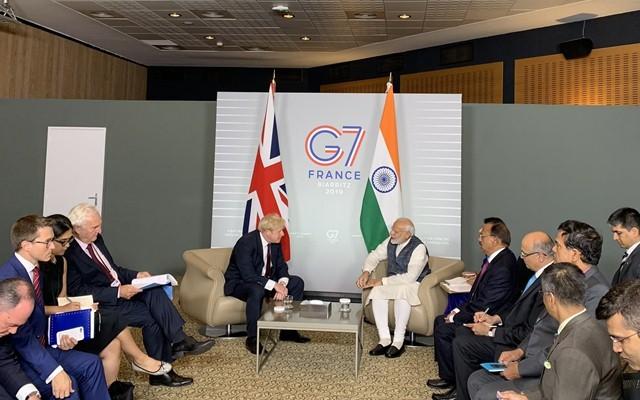 Narendra Modi Boris Johnson