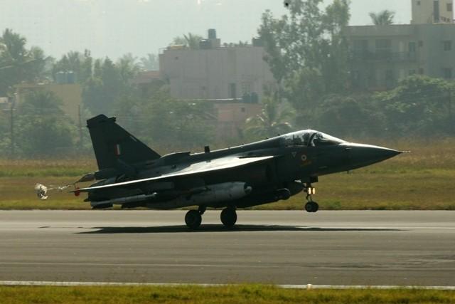 LCA Tejas makes a smooth landing at Bengaluru on Friday, 20 December 2013.