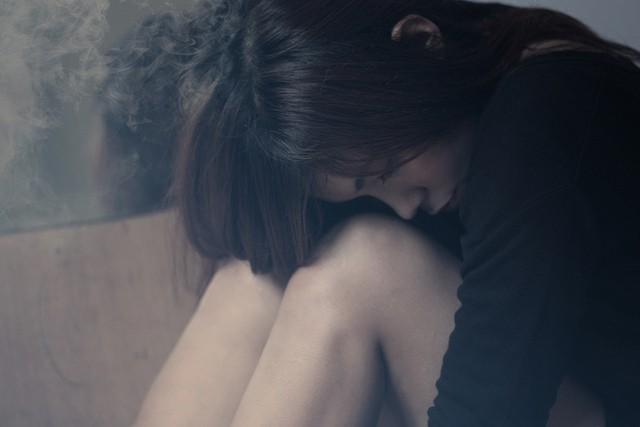 Sad, depressed woman