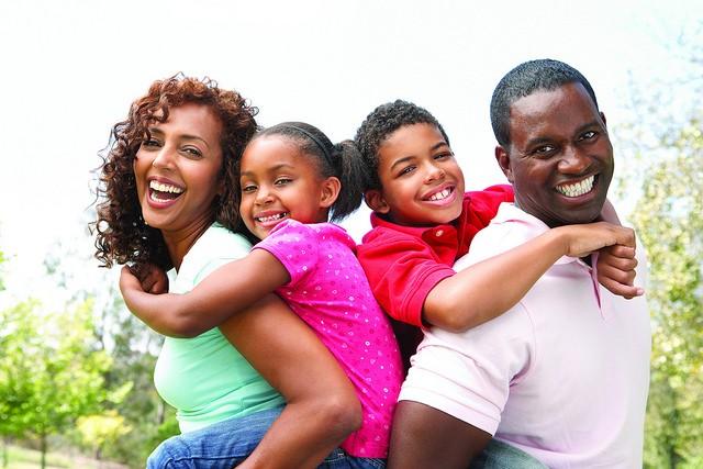 happy family, smiling