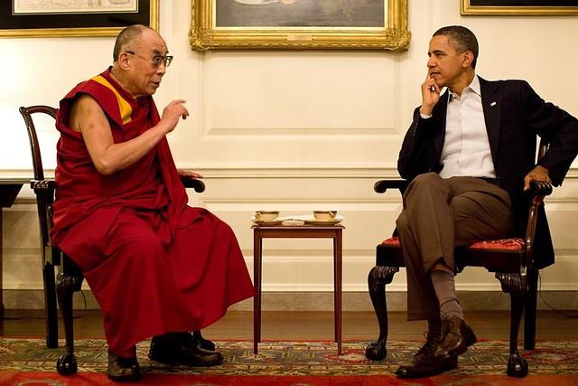 Dalai Lama with Obama