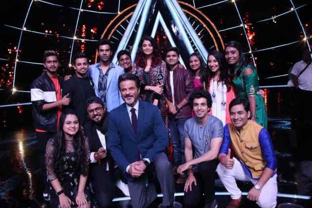 Indian Idol 10: Aishwarya Rai Bachchan, Anil Kapoor and Rajkummar Rao with Indian Idol 10 contestants