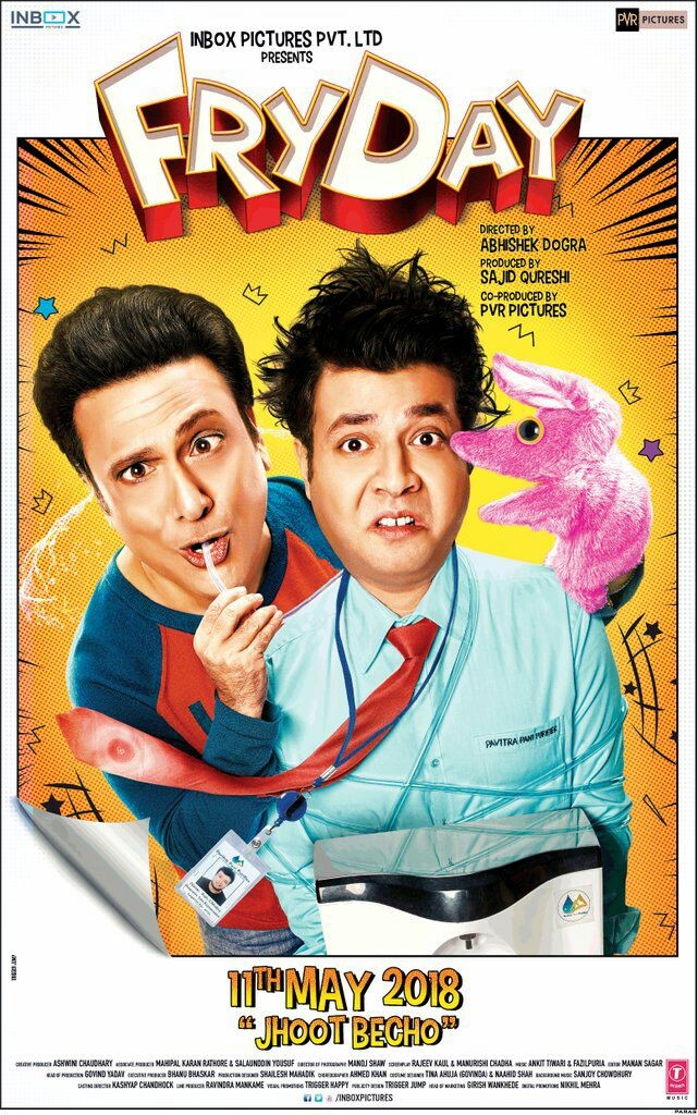 Govinda,Varun Sharma,Sanjay Mishra,Fryday,Fryday poster,Fryday movie poster,Fryday first look poster,Fryday first look
