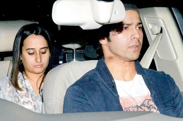 Varun Dhawan with Alleged girlfriend Natasha Dalal