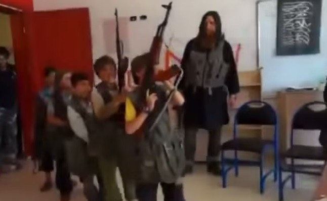 ISIS training children