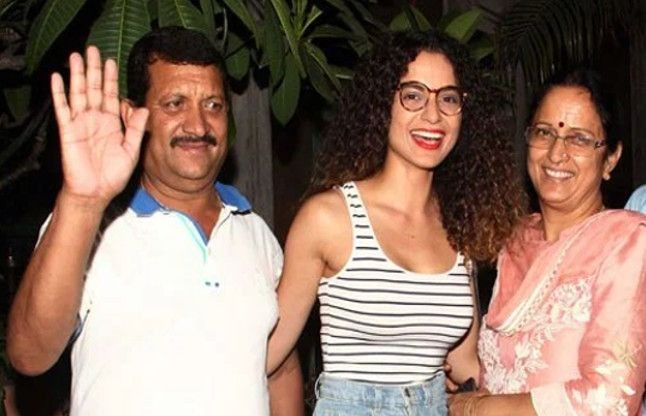 Kangana Ranaut with her parents