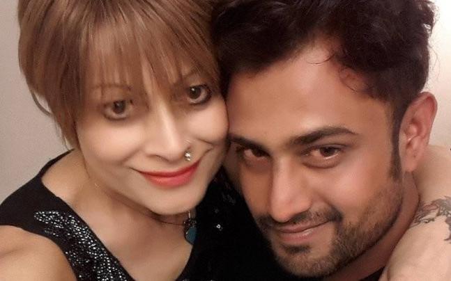 Bobby Darling with husband Ramnik Sharma