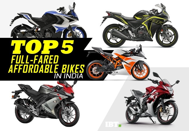 Top 5 affordable full-fared bikes in India