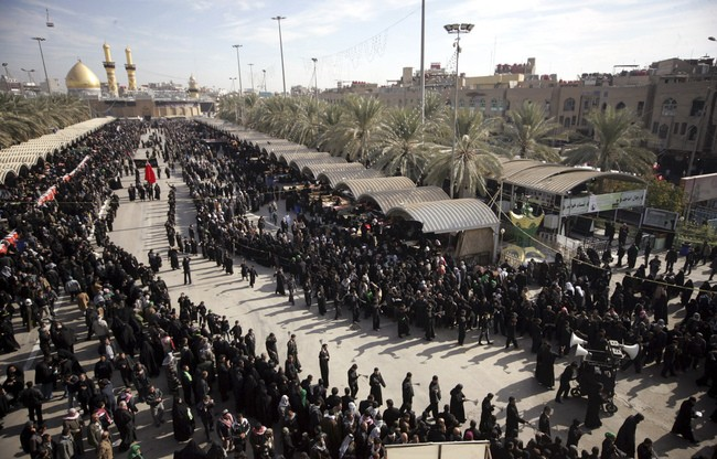 Iraq security forces during the Ashura rituals.