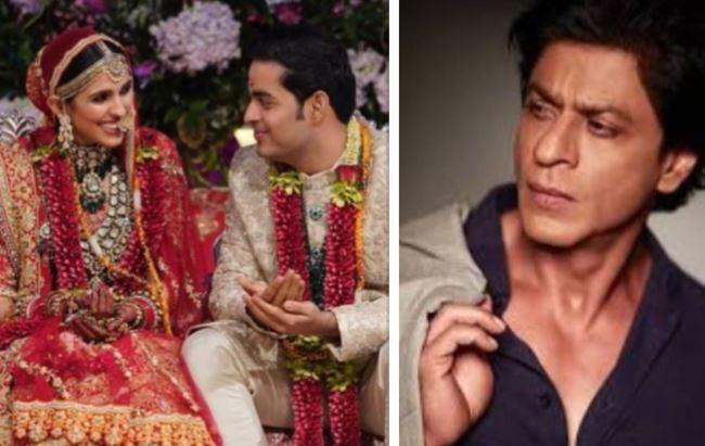 Shloka Mehta, Anant Ambani, Shah Rukh Khan