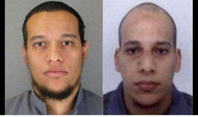 Sharif Kouachi, left, 32, and his brother, Said Kouachi, 34, who are suspected in a deadly attack on a satirical newspaper in Paris.