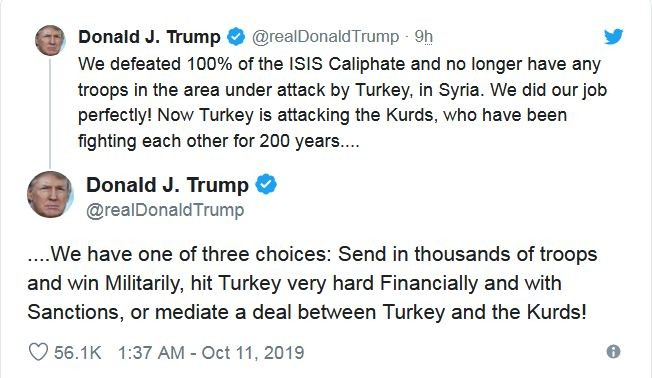 Trump's tweet on Turkey