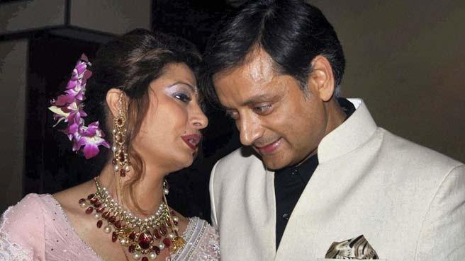 Union Minister Shashi Tharoor and Wife Sunanda Pushkar (Reuters)