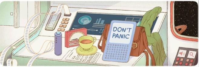 Google Commemorates Douglas Adams' 61st Birthday with Interactive Doodle