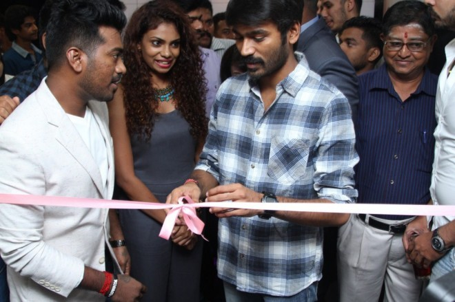 Dhanush,Dhanush Launches Essensuals Salon at RA Puram,Dhanush Launches Essensuals Salon,Tony And Guy RA PURAM Launch By Dhanush,Actor Dhanush,Dhanush pics,Dhanush images,Dhanush stills
