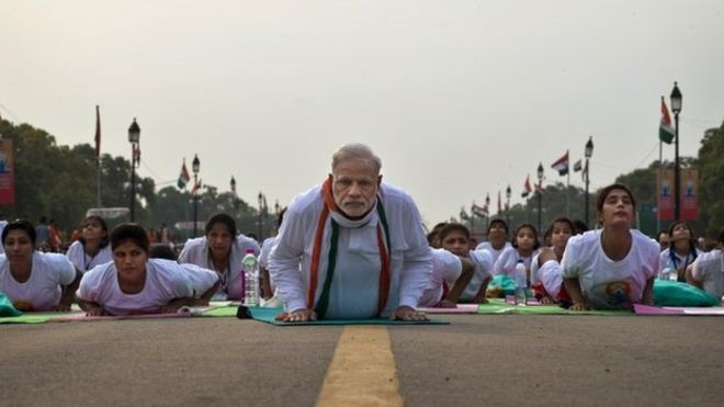 Learn Yoga from Narendra Modi: See Indian PM demonstrating different Yoga-ashanas (postures)