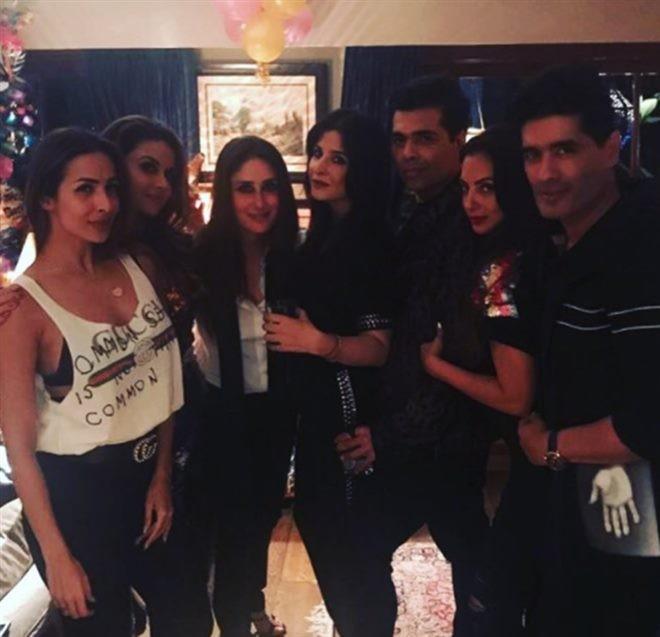 Saif Ali Khan,Karan Johar,Malaika Arora,Kareena Kapoor,Kareena Kapoor celebrates her 37th Birthday,Kareena Kapoor 37th Birthday,Kareena Kapoor Birthday celebration,Kareena Kapoor Birthday celebration pics,Kareena Kapoor Birthday celebration images,Kareena