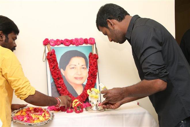 Vishal,Jayalalithaa,Jayalalithaa death Anniversary,Jayalalithaa first death Anniversary