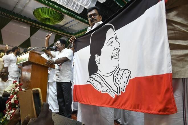 Sasikala,Sasikala nephew,Sasikala's Nephew TTV Dinakaran,TTV Dinakaran,Amma Makkal Munnetra Kazhagam,AMMK,AMMK party,Jayalalithaa,TTV Dinakaran party flag