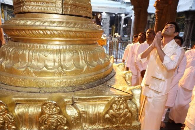 Superstar Mahesh Babu,Mahesh Babu,Mahesh Babu visits Tirumala,Mahesh Babu visits Tirumala temple,Tirumala temple,Bharat Ane Nenu,Bharat Ane Nenu success,Bharat Ane Nenu collection,Bharat Ane Nenu 200 cr