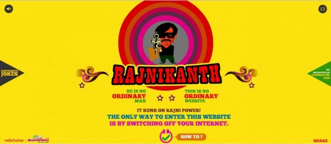 Rajinikanth's website