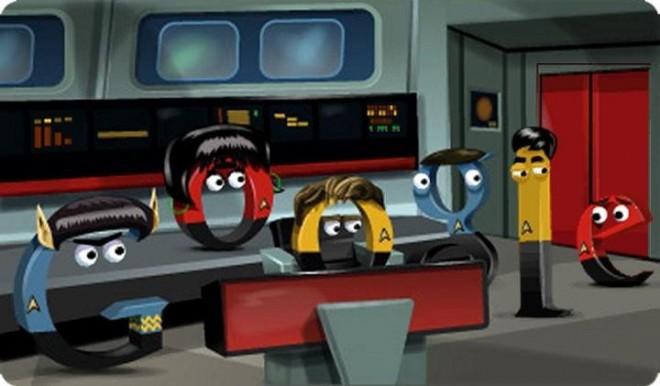 Google Star Trek doodle