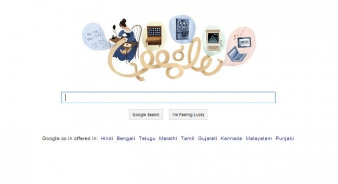 Google doodle commemorates 197th anniversary of Ada Lovelace